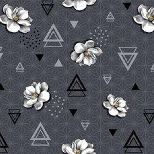 50x140cm Restje tafelzeil geometrische bloem