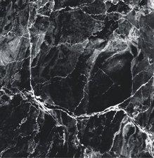50x140cm Restje tafelzeil marmer zwart