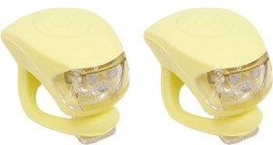 Urban Proof siliconen LED fietslampjes pastel geel (leverbaar vanaf 04-06-2021)