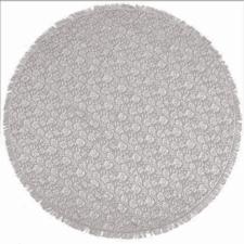 Rond buiten tafelkleed 160cm schuimvinyl kasteel-grijs (dikke kwaliteit)