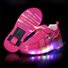 B-keus: Maat 39: schoen met wieltjes sporty pink