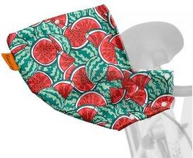 Handmoffen - Fiets handwarmers watermeloen