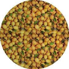 Rond tafelzeil citroentjes fris (140cm)