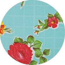 Rond Mexicaans tafelzeil rosendal mint (120cm)