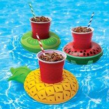 Opblaasbare bekerhouder ananas