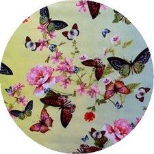 Rond tafelzeil butterfly vlinders (140cm) (Leverbaar week 27)