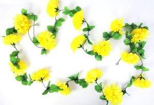 Bloemenslinger fietsslinger grote bloemen geel