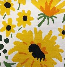 Ovaal tafelzeil gele bloemen