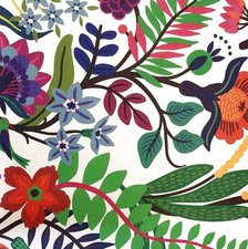 Rond tafelzeil Flora bloemen (140cm)