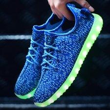 Ledschoenen trendy blauw (mt 25-34)
