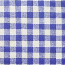 Ovaal tafelzeil grote ruit blauw