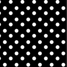 50x140cm Restje tafelzeil polkadot stippen zwart