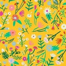 35x140 Restje tafelzeil Kitsch Kitchen exotica flower fields