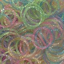 200 Loombandjes glitter mix