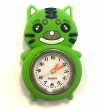 Loom bands kinder horloge kat groen