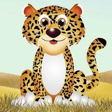 Tegelsticker luipaard 15x15cm