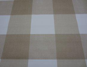 Ovaal tafelzeil blokken bruin/beige