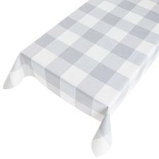 Ovaal tafelzeil blokken grijstinten