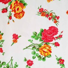 Mexicaans tafelzeil rosendal wit roos