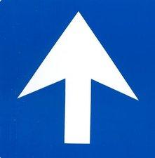 Pictogram sticker Verplichte richting