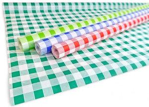 Papieren tafelkleed rol (10 meter) rood