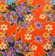 Rond Mexicaans tafelzeil fortin oranje(120cm)