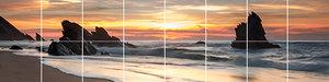 Foto tegelsticker 15x15 'Zonsondergang op het strand' 30x120 cm hxb