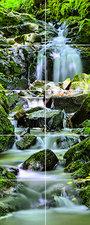 Foto tegelsticker15x15 'Waterval' 75x30 cm hxb