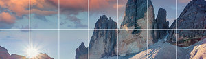 Foto tegelsticker 15x15 'Zonsondergang' 30x105 cm hxb