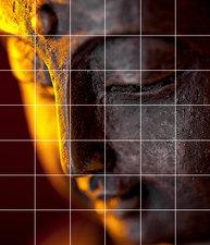 Foto tegelsticker 15x15 'Boeddha sfeer' 105x90 cm hxb