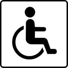 Sticker invaliden toilet