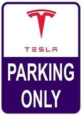 Sticker parking only Tesla