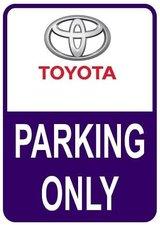 Sticker parking only Toyota