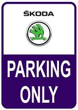 Sticker parking only Skoda