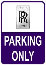 Sticker parking only Rolls Royce