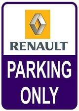 Sticker parking only Renault