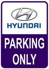 Sticker parking only Hyundai