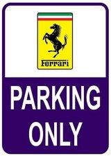 Sticker parking only Ferrari