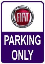 Sticker parking only Fiat