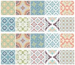 Tegelstickers Oosters pastel 10 stuks (10x10cm)