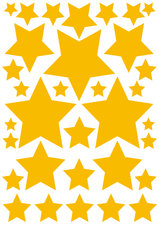 Autostickers sterren geel