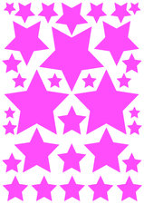 Autostickers sterren roze