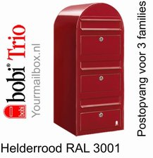 Brievenbus Bobi Trio helderrood RAL 3001