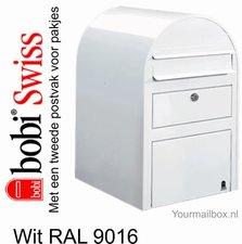 Brievenbus Bobi Swiss wit  RAL 9016