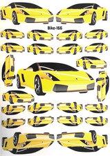 Fietsstickers racewagen geel