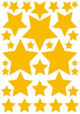 Fietsstickers sterren geel