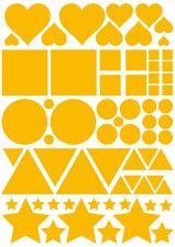 Fietsstickers figuren geel
