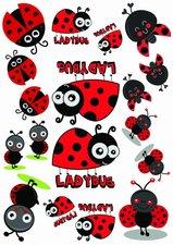 Fietsstickers ladybug