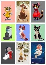 Fietsstickers katten avontuur