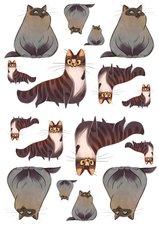 Fietsstickers dikke katten